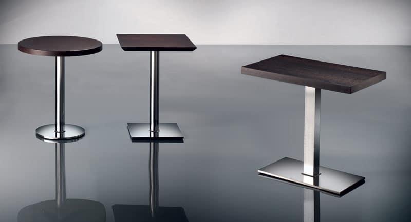 ART. 430, Chrome metal base, various heights, for restaurant