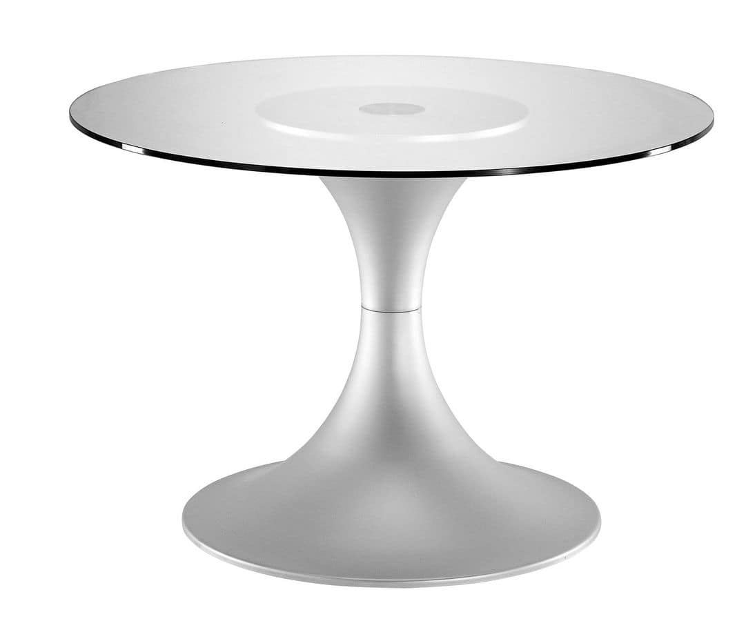 Art.710/AL, Round table base, aluminum frame, for domestic and contract use