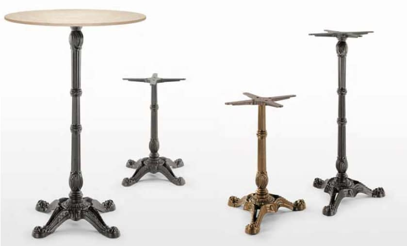 art. Bistrot, Cast iron table bases