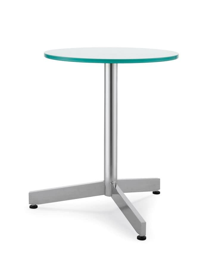Art.Met/3, Table base, metal structure, for contract use