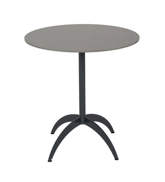 Art.Target, Table base made in round tube with shaped legs