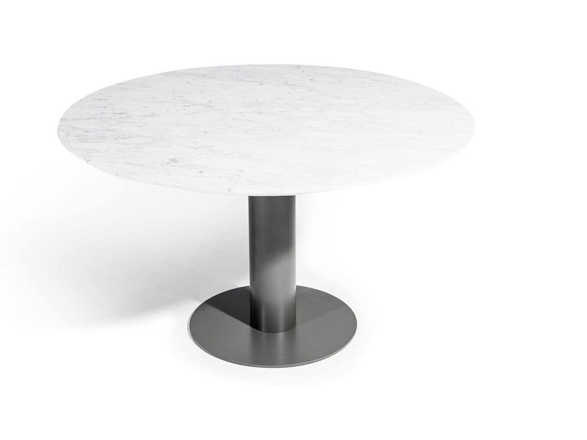 Big, Table base, with round platform and cylindrical stem