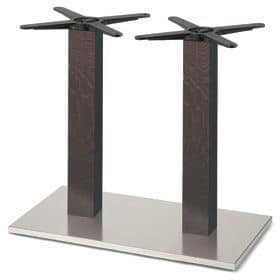 Firenze 9217, Table base for bars, steel base and 2 columns in solid beech