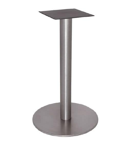 FT 065, Coffee table base, entirely in polished steel