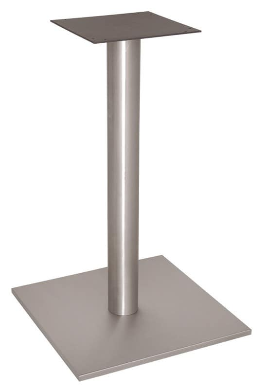 FT 070, Square base for bar table, brushed stainless steel