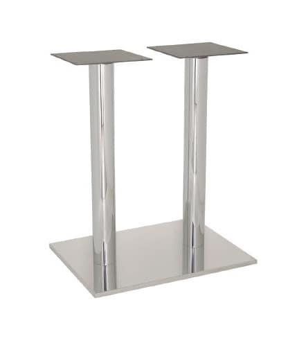FT 070 Double Column, Table base for bars and ice cream, stainless steel polished