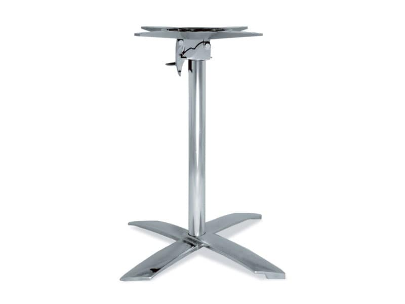 FT 710, Folding base for table, in aluminum, for coffee bar