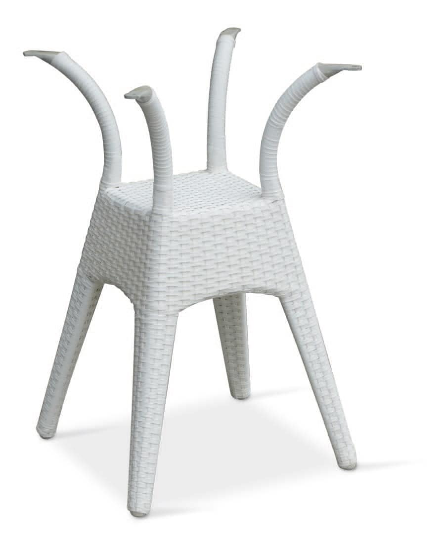 FT 2028, Intertwined table base in aluminum for Ice Cream shop