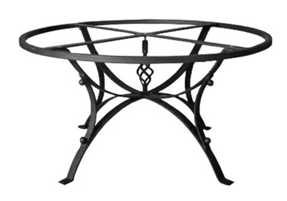 Hydra, Table base in decorated iron