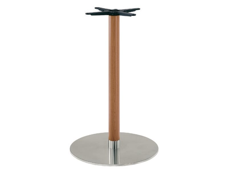 Inox.R 670, Table base in stainless steel