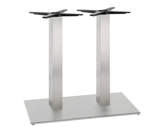 Inox.T 693, Double table base, in satin or polished stainless steel