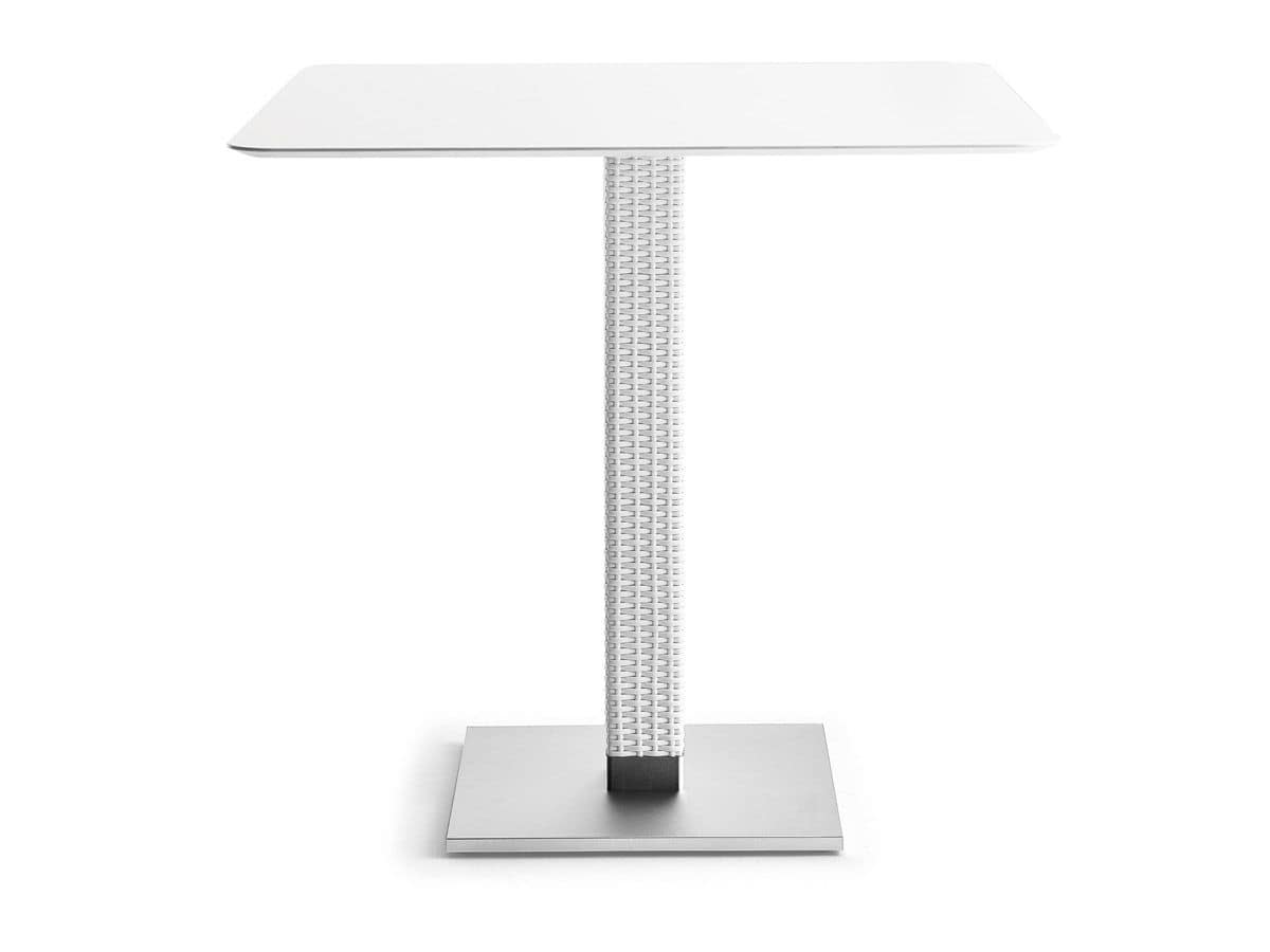 Lotus base, Anodized aluminum base for outdoor tables