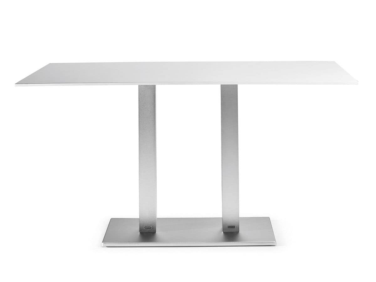 Metrò base, Double base for bar table, ideal for outdoor use