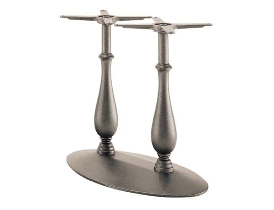 Randa 727, Cast iron table base with double column