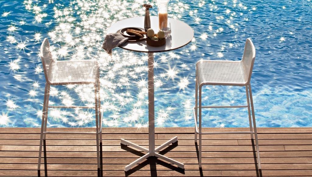 Summer set base 3, Base for bar table, cross-shaped, for outdoor