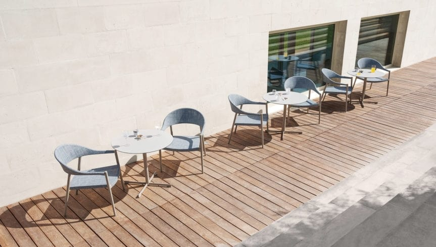Summer set base low, Table base in stainless steel, for outdoor