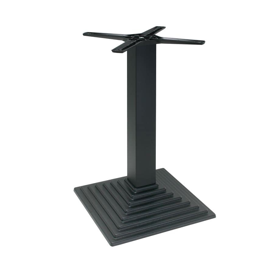 TG03, Square base in cast iron, for contract and outdoor use
