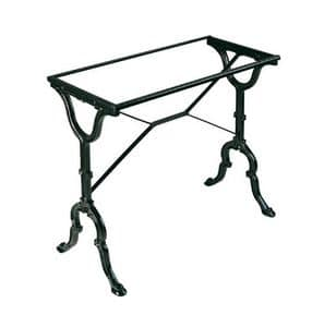 TG09, Cast iron base for rectangular tops, for outdoor use