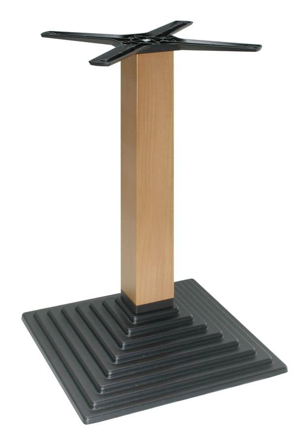 TG05, Table base, metal frame and wood column