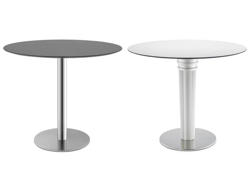 Tiffany Base - round base, Bar table, chromed steel base with ballast