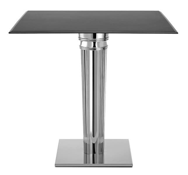 Tiffany Base - square base, Square base for table, in stainless steel with ballast