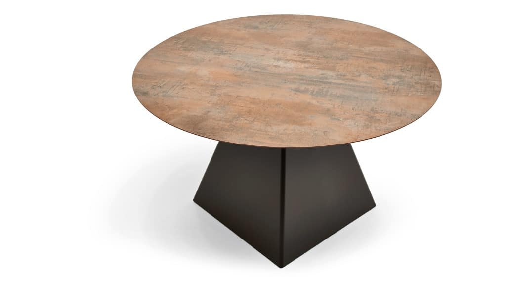 Tower base 2, Base for bar table, in steel, for restaurants and hotels
