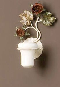 AB.8070, Toothbrush holder with floral decorations