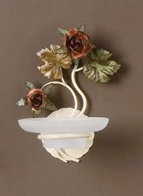 AB.8070, Wall-mounted soap dish with floral decorations