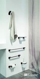 Piega 3402-3409, Towel rail and brush holder, available in various colors
