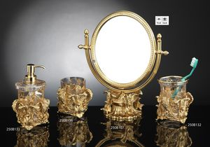 SET BATHROOM FOGLIE, Luxurious set of bathroom accessories, in Baroque style