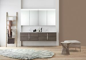 Byte 2.0 comp.08, Bathroom cabinet with double sink