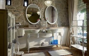 Carpi bathroom furniture, Classic style bathroom furniture, with two washbasins