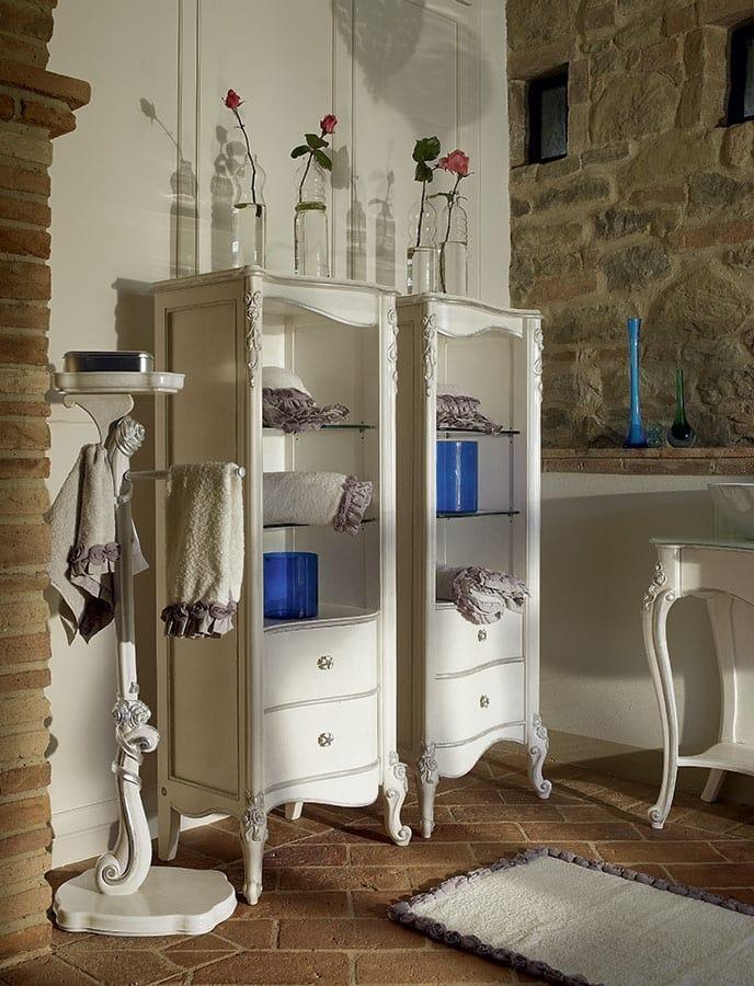 Carpi bathroom furniture, Classic style bathroom furniture, with two washbasins