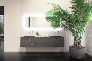 Kube 05, Bathroom cabinet in real marble