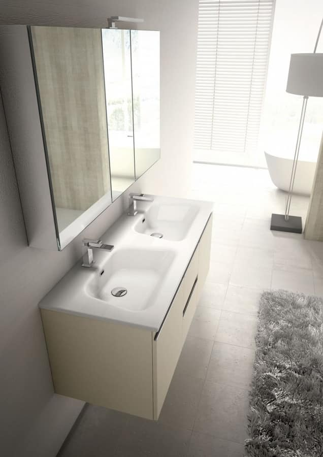 gloss gloss modular bathroom furniture collection fitted mistral comp05 bathroom furniture for couples with double washbasin idfdesign