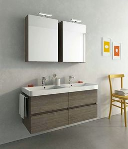 SOHO S16, Wall-mounted vanity unit with drawers