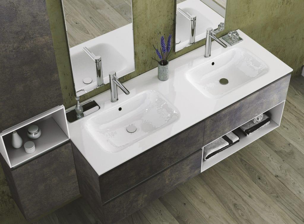 Torana TR 022, Bathroom cabinet with two washbasins
