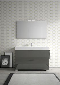Basic comp.09, Bathroom cabinet with large ceramic washbasin