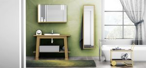 Bath Table 05, Bathroom cabinet, with mirror with shelf