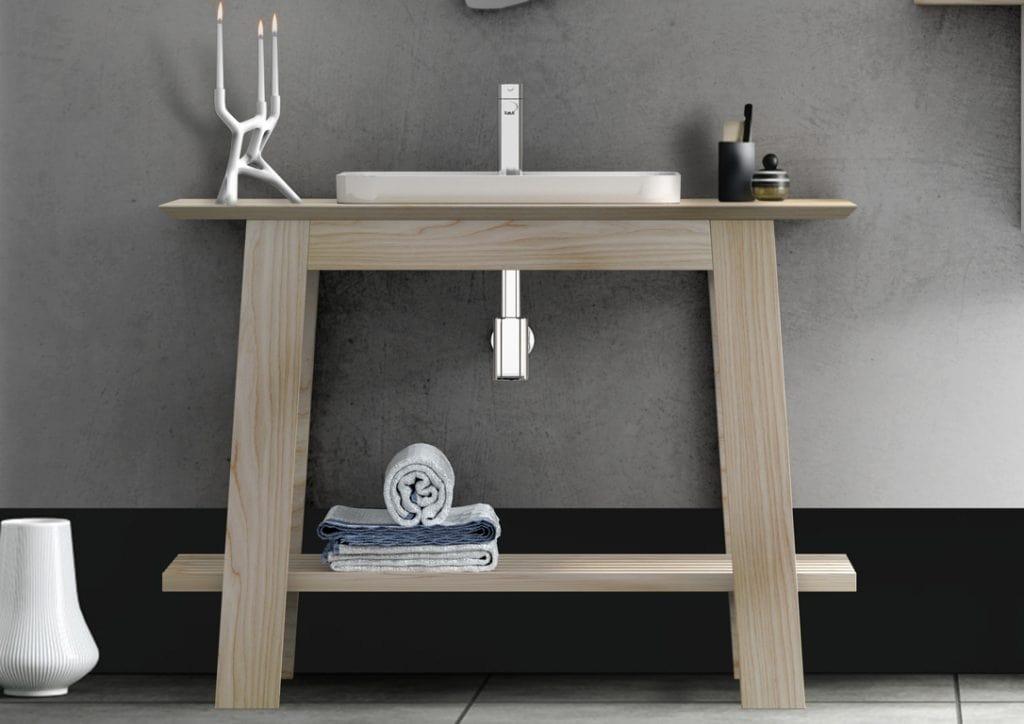 Bath Table 07, Freestanding bathroom unit with washbasin