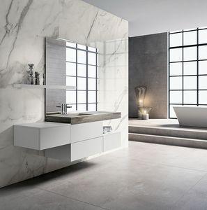 BLUES BL2.06, Complete oak bathroom furniture