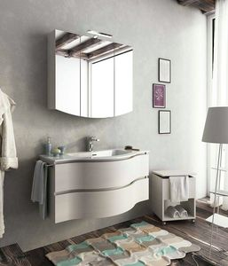 BROADWAY B13, Single wall-mounted vanity unit with drawers