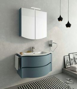 BROADWAY B2, Lacquered wall-mounted vanity unit with drawers