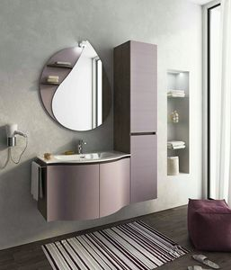 BROADWAY B8, Single wall-mounted vanity unit with doors