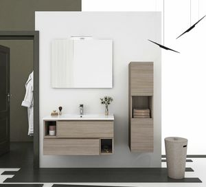 CITY 01, Wall-mounted vanity unit with drawers
