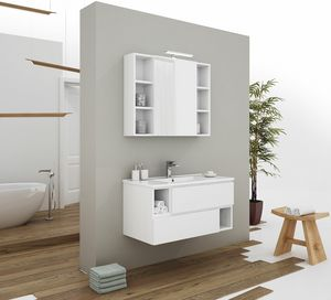 CITY 02, Wall-mounted vanity unit with drawers