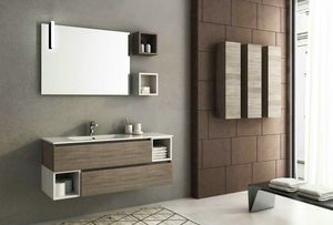 COMPONIBILE 05, Wall-mounted vanity unit with drawers