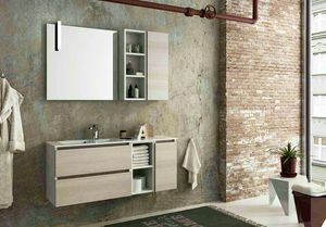 COMPONIBILE 11, Wall-mounted vanity unit with drawers
