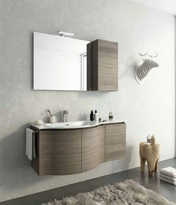 COMPONIBILE 9, Wall-mounted vanity unit with doors