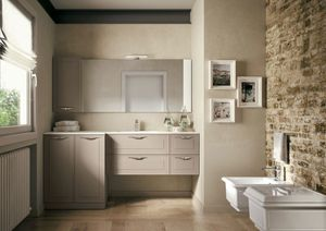Dressy comp.08, Bathroom furniture with a combination of traditional and contemporary styles